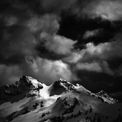 Unicorn & Boundary Peaks (TroyMasonPhotography) Tags: boundarypeak climbing clouds dark glacier hike hiking mountrainier mountain mtrainier outdoors snow storm tatoosh tatooshrange unicornpeak washington wilderness wind pnw pacific northwest landscape mountaineering mountaineers summit pacificnorthwest drama moody