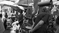 Problem (javitm99) Tags: problem girl woman bn bw paris france art street