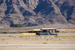 Jet Car vs Jet Plane (RStonejr) Tags: rossstone coinforcejetcar coinforce t33tbird tbirdjet shootingstar3 shootingstar lockheedt33shootingstar lockheedt33shootingstarortbird ft452jetplane ft452 usairforce21452 usairforce desert rossome supercool fast jetplane acemakerii acemaker2 21452 tailnumber21452 hanger24 lockheedt33 usaf jetplanevsjetcar landvsair jetversuscar dragrace jet drag race airshow versus awesome flames ross stone outside new