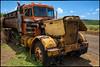 Koloa, Kauai, where old trucks go to retire. (drpeterrath) Tags: canon eos5dsr 5dsr color truck outdoor green blue vintage hawaii landscape orange travel yellow poipu kauai koloa