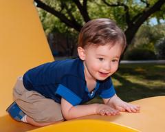 3978 DJ (greyhound rick) Tags: child toddler happy smile slide school scottsdale arizona photoshop lightroom niksoftware nikon nikkor sb800 strobes strobist fun