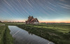 Sunset to Star trail! (Nathan J Hammonds) Tags: thomas becket church star trail stars night time photography long exposure reflection sunset kent uk water field colour nikon d750 sky