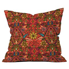 aziza fire throw pillow DENY (Scrummy Things) Tags: sharonturner aziza deny denydesigns moroccan morocco boho bohemian fire orange red home decor pillow cushion throwpillow