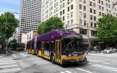 2018-05-04 - Seattle, 3rd Ave & Union St (lausanne1000) Tags: trolleybus trackless trolley america usa canada seattle new flyer xcelsior