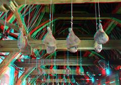 Vleeshallen Gent Belgium 3D (wim hoppenbrouwers) Tags: vleeshallen gent belgium 3d anaglyph stereo redcyan ham hammen meat vlees