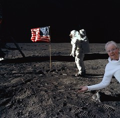 Photobomb Proof of Huge Moon Conspiracy!!! (SolanoSnapper) Tags: thelunartics werehere 6ws granny buzzaldrin nasa moon