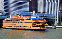 Staten Island Ferry at Manhatten terminal, New York City, USA. (Roly-sisaphus) Tags: nyc thebigapple unitedstatesofamerica