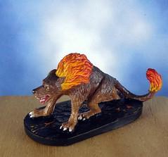 Hellhound-Devil-Demon-Fiend-Painted-Miniature-02 (Dead Bard Miniatures) Tags: painted pathfinder ralpartha reaper chainmail chronoscope miniature dungeons dragons dd dnd warhammer wotc