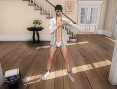 Risky Business (EnviouSLAY) Tags: riskybusiness risky business buttonup button up dancescene dance scene secondlifefashion secondlifephotography white undies lingerie underwear briefs socks singing karaoke burley mossu valekoer vale koer belleza bento lelutka zoom newrelease new release tmd the mens department themensdepartment mensmonthly mensfashion mensfair mensevent monthlymen monthlyfashion monthlyfair monthlyevent monthly men event fair fashion pale male gay blogger secondlife second life photography nostalgia