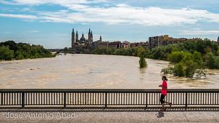 Riada 2018, El Pilar desde el puente de la Almozara. Zaragoza