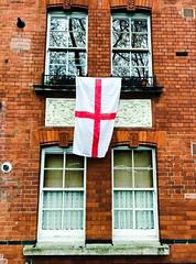 Stepney Green (Dr John2005) Tags: cameraphone iphoneography iphone7 london stepneygreen stgeorge flag