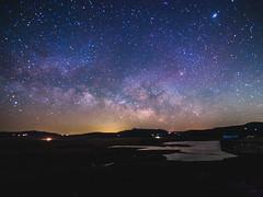Milky Way over Lake Henshaw (reprocessed) (Jun C Photography) Tags: night mk2 microfourthirds omd mkii astrophotography sandiego lakehenshaw palomarmountain u43 nightsky em5 olympus markii milkyway mft longexposure