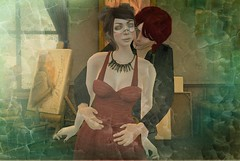 Padishar and Felice circa... 2014? (Felice Nightfire) Tags: oldbutgood love secondlife darling pet mineminemine