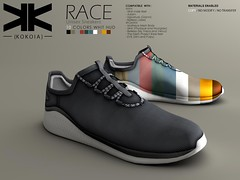 Race :: Unisex Sneakers :: 10 Colors ({kokoia}) Tags: race kokoia sneakers shoes sport male man adam slink signature belleza jake gianni tennis casual avatar 3d mesh athletic maitreya eve tmp unisex deporte zapato