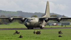 3 PARA's Simulated Airfield Assault for Joint Warrior 18-1 (MarkYoud) Tags: raf herc c130j keevil joint warrior 181 fast airlanding military transport 3 para 16 air assualt brigade airfield