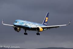 TF-FIR Boeing 757-200 Icelandair Glasgow airport EGPF 24.04-18 (rjonsen) Tags: plane airplane aircraft aviation dark sky vantlajökull glacier ice flying flight