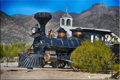 Virginia & Truckee, Locomotive #11, Reno (jgbirdmangrossinger) Tags: locomotive steam reno 11 church steeple mountain old tucson studio joegrossinger train railroad