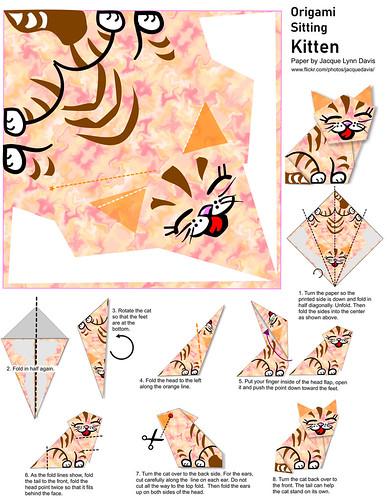Origami Kitten instructions