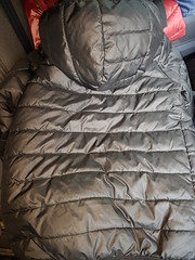 Rescued puffa coat (Clothes Mountain) Tags: nylon puffa puffer coat jacket thrownaway rubbish waste saved rescued sonnetti