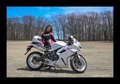 Pride (Peter Camyre) Tags: peter camyre photography portrait giel lady bike motorcycle kawasaki blue sky sunny day quabbin reservoir saturday may 5 2018 pose posing fashion biler rider friend people nice pretty beautiful portraiture portraits canon 5d mkiii