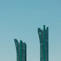 two (Marc McDermott) Tags: buildings architecture sky curves lines pattern building