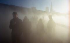 SF_ 2017269 (dannondale) Tags: streetphotography wideangle nikonf2a nikon 35mfilm kodak ektar fog bridge