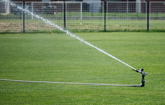 Sprinkler (Krbo_sb) Tags: sprinkler sprinkle water grass football stadium
