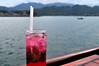 Sunset drink (Roving I) Tags: fb fruitcocktails emperorcruises experiences catering evening tourism travel mice sea wood timber boats plasticstraws icecubes nhatrang vietnam