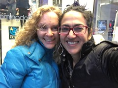 blurry photo with Rebecca (olive witch) Tags: 2017 abeerhoque dec17 december fem kid nyc outdoors pair