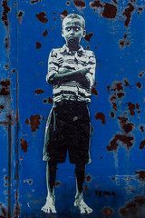 Urban Art (michael_hamburg69) Tags: hamburg germany deutschland hansestadt streetart urbanart boy blue artist künstler tona