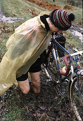 ' Oh Dear ! ' (DP the snapper) Tags: johnbowen mud doethievalley scanned jacktaylor kidderminsterctc cyclist roughstuff