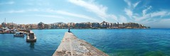 The Harbour of Marsalforn (Vladi Stoimenov) Tags: events gozo landscape marsalforn panorama ufer bay beach blue boot coast coffee excursion havenharbourport horizon house island people sea seaside shore sky view viewpoint water affinityphoto wharf quay pier malta