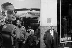 Urban Generations.... (markwilkins64) Tags: london kensington kensingtonhighstreet uk street streetphotography mono monochrome bw blackandwhite generation candid