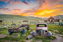 Bodie Ghost Town Vintage Rusting Ghost Car Epic Fine Art Breaking Storm Clouds Sunset! High Sierras California Gold Rush Ghost Town! Bodie State Park!  Sony A7 R & Carl Zeiss Sony Vario-Tessar T* FE 16-35mm f/4 ZA OSS Lens SEL1635Z! HDR Goldrush! (45SURF Hero's Odyssey Mythology Landscapes & Godde) Tags: bodie ghost town vintage rusting car epic fine art breaking storm clouds sunset high sierras california gold rush state park sony a7 r carl zeiss variotessar t fe 1635mm f4 za oss lens sel1635z hdr goldrush