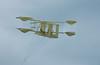 Aloft on a Sea Breeze (Steve Taylor (Photography)) Tags: design cream cloth string newzealand nz southisland canterbury christchurch newbrighton minimalism minimalist kite sky kiteday biplane
