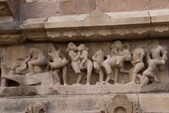 Erotic sculpture at the Lakshmana Temple S24A8583 (grebberg) Tags: madhyapradesh khajuraho kamasutra temple westerngroupoftemples chandeladynasty chandela hinduism india march 2018 lakshmanatemple lakshmana lordshiva shiva erotic sculpture