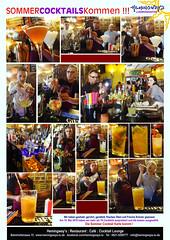 Cocktails Probe - Hemingway's Ludwigshafen (ernestohemmo2014) Tags: hemingways ludwigshafen cocktails bombay crushed ananas sangria eistee pistazien limo granatapfel music live jazz latino brazil rock pop folk flamenco fajita mojito weine rioja pfalz enchilada burritos tapas guitar bass