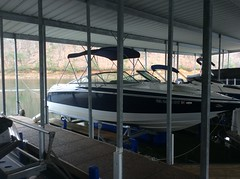 6600 UL2, 24 Cobalt on a HydroHoist Boat Lift