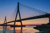 Uniendo tierras 2. (jetepe72) Tags: guadiana puente colgante anochecer ayamonte portugal algarve rio reflejos colores