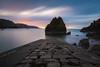 Pettico Wick Bay 8 minutes later (Uillihans Dias) Tags: blue petticowickbay sunrise scotland unitedkingdom seascape nikon d750 rocks bay