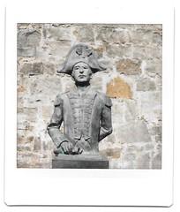 Captain John Quilliam, Castle Rushen (iampaulrus) Tags: instax instaxsquare lomoinstantsquare lomo lomography castletown castlerushen isleofman paulfargherphotography paulfargher statue