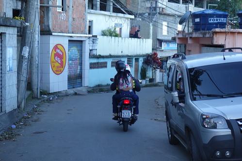 Ici, on se déplace beaucoup en moto
