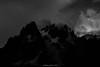 Noir de Cimes (Frédéric Fossard) Tags: mountain landscape alpes hautesavoie massifdumontblanc cimes crêtes arêtes hautemontagne aiguillesrocheuses aiguillesdechamonix atmosphère mood dark sky clouds nuages monochrome noiretblanc blackandwhite glacier facenord mountainridge mountainrange mountainside flancdemontagne peaks