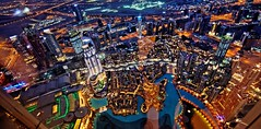 Lights Up (Sanjiban2011) Tags: dubai uae middleeast topview burjkhalifa fromthetop cityscape evening nightphotography architecture buildings panorama towers nikon d750 tamron fullframe tamron1530