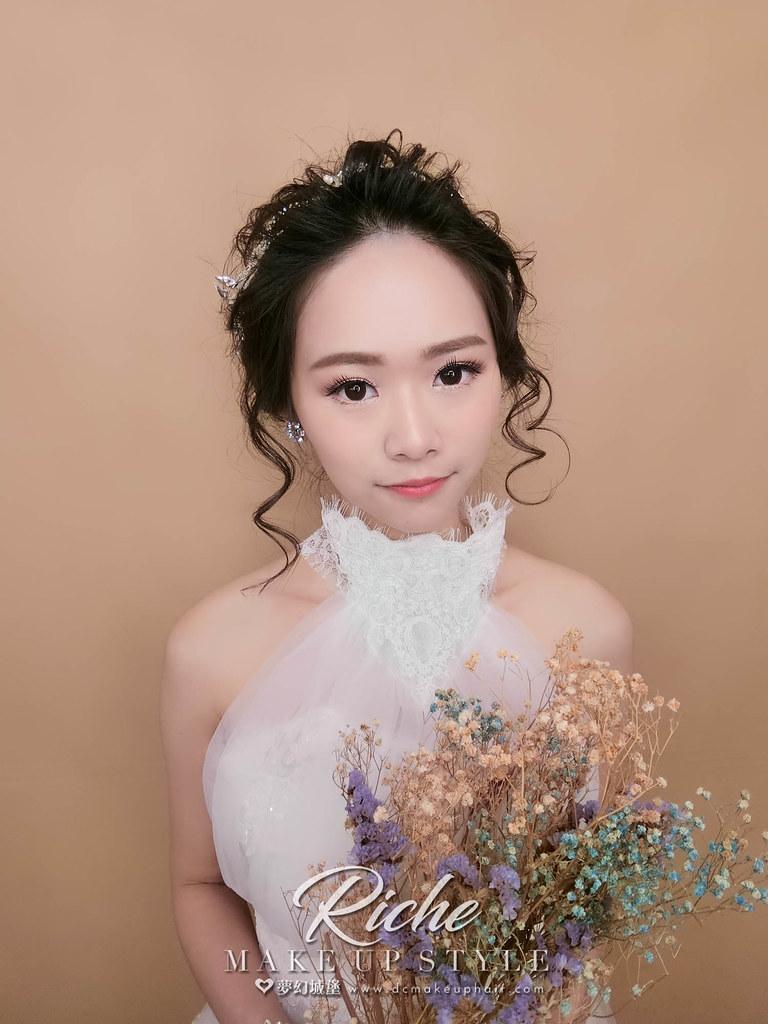 【新秘RICHE】新娘造型創作 / 氣質盤髮造型
