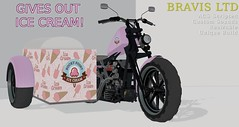 ice cream (Bravis Ltd) Tags: bike bikes motorcycle bravis rock track race racing car motor vehicle trike chopper low rod garage mechanic custom unique ferrari bmw triumph lambretta drag hot second life secondlife sl wheel gay sexy rupaul sport army miltary icecream