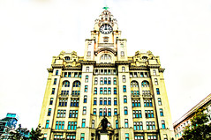 Liver Building (Tony Shertila) Tags: liverpool england unitedkingdom gbr europe britain merseyside albertdock liverbuilding archite structure clock hikey skyscraper ediface