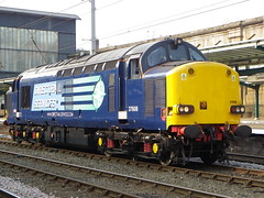 37608 (Rob390029) Tags: drs direct rail services class 37 37608 carlisle citadel railway station car wcml west coast mainline cumbria north train track tracks rails travel travelling transport transportation transit loco locomotive