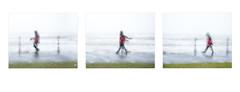 (Singing and) dancing in the rain (AEChown (away now)) Tags: dancing singing rain rainyday redjacket promenade seaside bexhill englishsummer