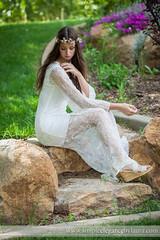 Sitting in Her Garden (Laura K Bellamy) Tags: bride bridals bridal wedding weddings portraits boho